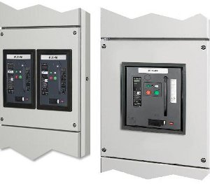 Circuit-breaker IZMX16, series NRX. View of ACB and cassette, withdrawable unit