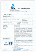 TÜV LSE certification